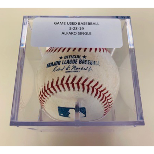 Photo of Game-Used Baseball: Jorge Alfaro Single