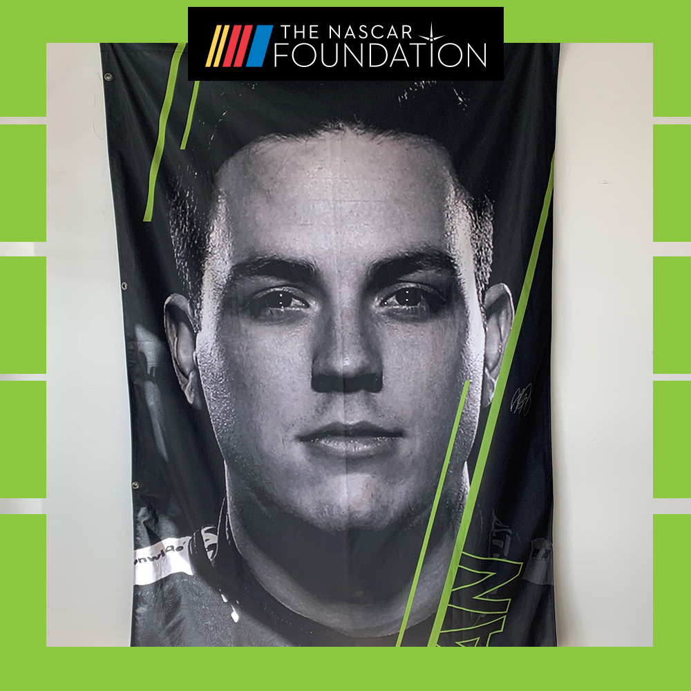 NASCAR's Alex Bowman 2018 MENCS Autographed Playoff Banner!
