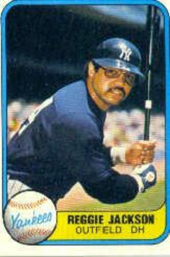 Photo of 1981 Fleer #79A Reggie Jackson/Outfield DH