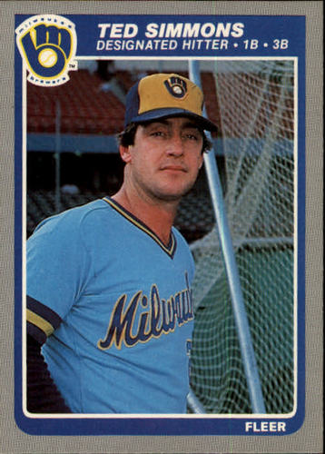 Photo of 1985 Fleer #596 Ted Simmons