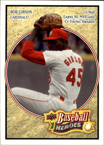 Photo of 2008 Upper Deck Heroes #163 Bob Gibson