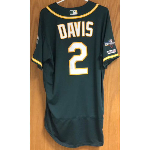 Photo of Game-Used Jersey w/ 2019 Postseason Patch: Khris Davis - 9/24/19