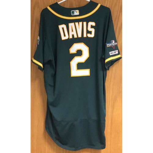 Game-Used Jersey w/ 2019 Postseason Patch: Khris Davis - 9/24/19
