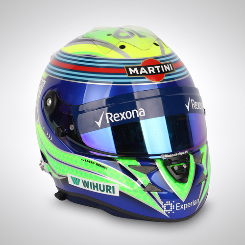 Photo of Felipe Massa 2014 Race Used Helmet