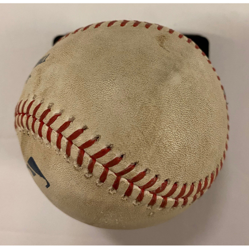 Photo of Marcell Ozuna Game Used Home Run Baseball - 4th Longest Home Run hit at Truist Park - August 26, 2020 Game 1 - Anderson MLB Debut
