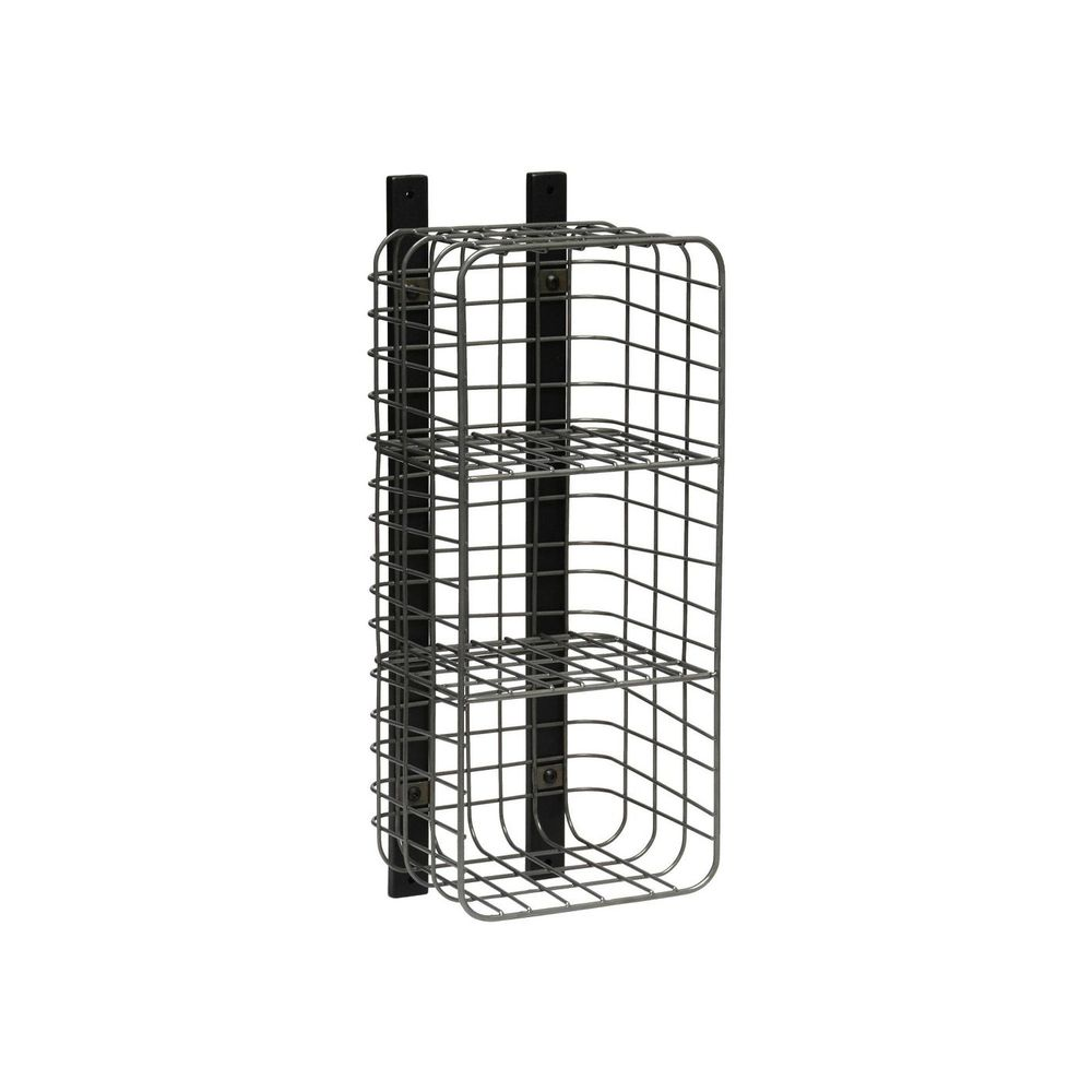 Photo of Entryway Vertical 3 Cube Wire Shelf Pewter - Threshold