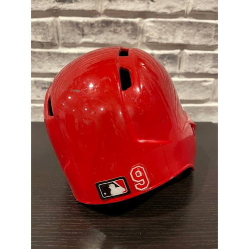 Photo of No. 9 -- Team-Issued Helmet -- Right Ear Flap -- Size 7 3/8 (Not MLB Authenticated)