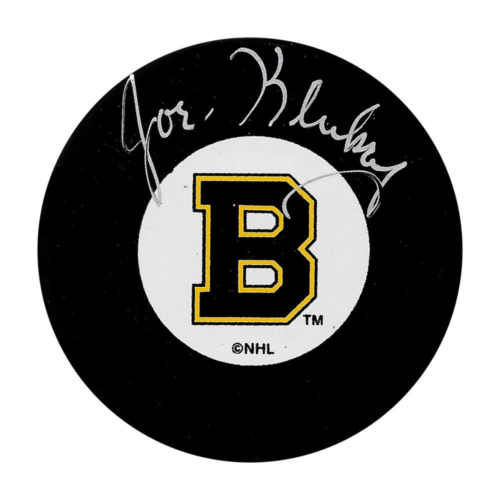 Joe Klukay Autographed Boston Bruins Puck
