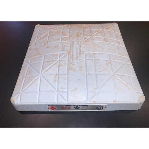 Photo of New York Yankees at Boston Red Sox September 27, 2014 Game Used 1st Base - 5th and 6th Innings, Derek Jeter Final Weekend