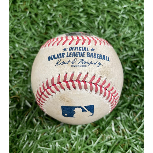 Photo of Game Used Baseball: Tyler Glasnow strikes out Anthony Santander - Top 3 - August 25, 2020 v BAL