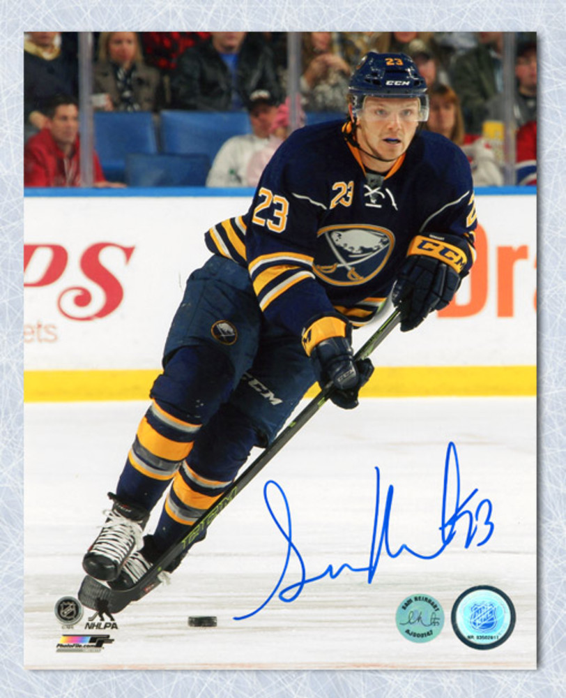 Sam Reinhart Buffalo Sabres Autographed Hockey Action 8x10 Photo