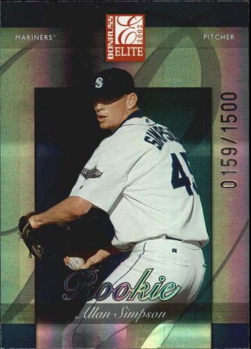 Photo of 2002 Donruss Elite #173 Allan Simpson/1350* RC