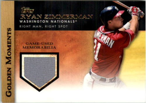 Photo of 2012 Topps Golden Moments Relics #RZ Ryan Zimmerman S2
