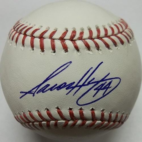 Photo of Aaron Harang Autographed Baseball
