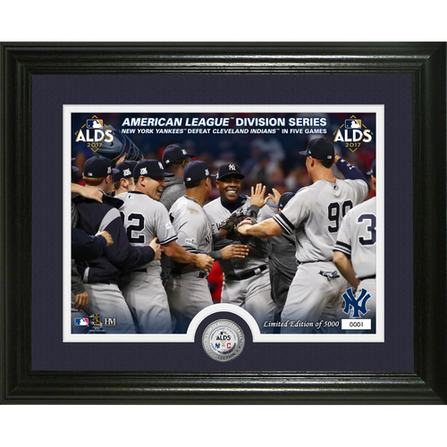 Serial #1! New York Yankees ALDS Victory Silver Single Coin Photo Mint