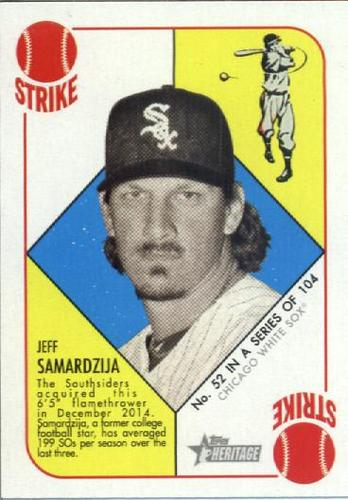 Photo of 2015 Topps Heritage '51 Collection #52 Jeff Samardzija