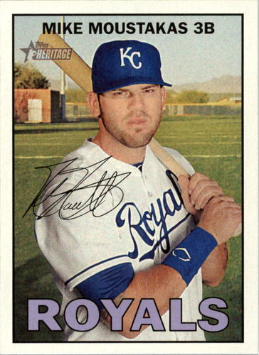 Photo of 2016 Topps Heritage #128A Mike Moustakas