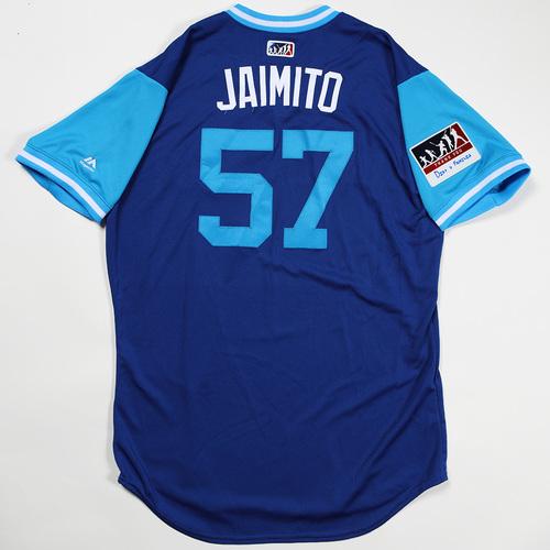 "Photo of Jamie ""Jaimito"" Garcia Toronto Blue Jays Game-Used Jersey 2018 Players' Weekend Jersey"