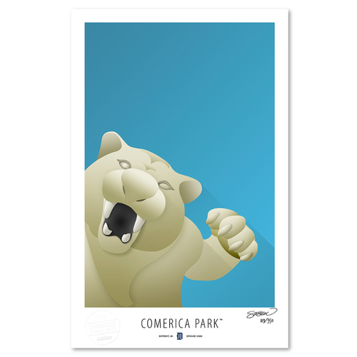 Photo of Comerica Park - Collector's Edition Minimalist Art Print by S. Preston #119/350  - Detroit Tigers
