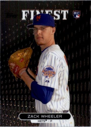 Photo of 2013 Finest #71 Zack Wheeler Rookie Card