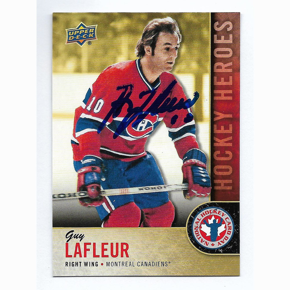 Guy Lafleur Autographed Upper Deck 2018 National Hockey Card Day Card