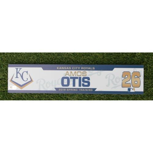Photo of Team-Issued Spring Training Locker Tag: Amos Otis
