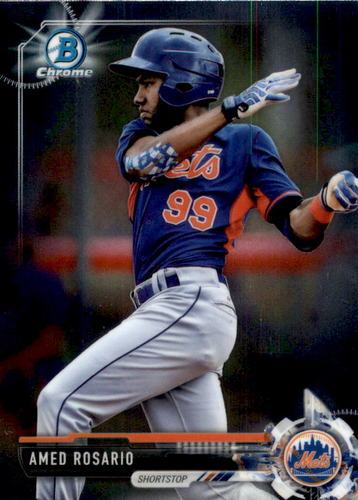 Photo of 2017 Bowman Chrome Prospects #BCP76 Amed Rosario