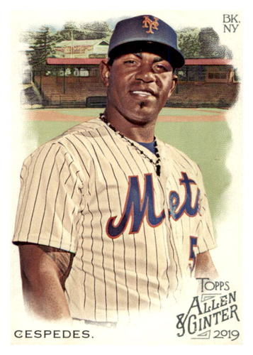 Photo of 2019 Topps Allen and Ginter #374 Yoenis Cespedes SP