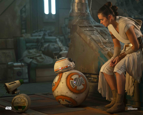 Rey, BB-8 and D-0