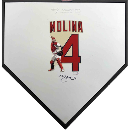Photo of Cardinals Authentics: Yadier Molina Autographed Home Plate