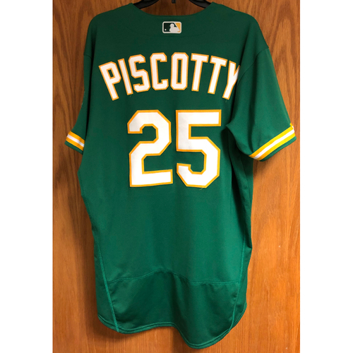Photo of Game-Used 2020 Jersey - Stephen Piscotty (8/4/20 - HR #1; Career #79)