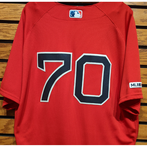 Photo of Ryan Brasier #70 Game Used Red Home Alternate Jersey