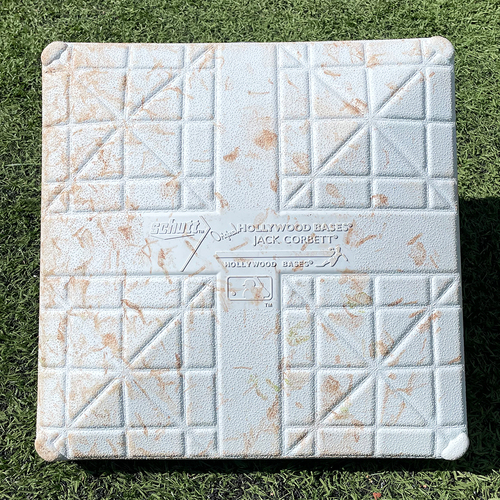 Game Used Jackie Robinson Day Base - 1st Base, Innings 1-3 - Conforto Single, Alonso Walk - Mets vs. Nationals - 4/23/21