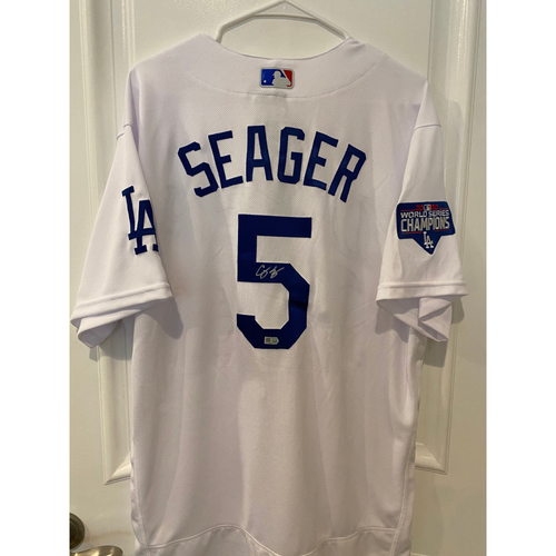 Photo of Corey Seager Authentic Autographed Los Angeles Dodgers Jersey
