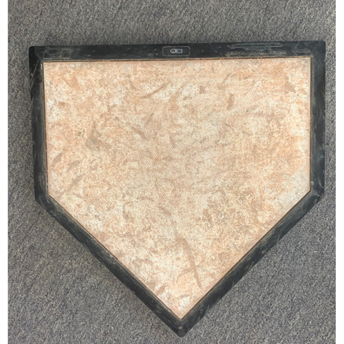 Photo of Los Angeles Dodgers at Boston Red Sox October 24, 2018 Game Used Home Plate and Pitching Rubber - World Series Game 2 and New York Yankees at Boston Red Sox September 30, 2018 - Red Sox Franchise Record 108 Wins