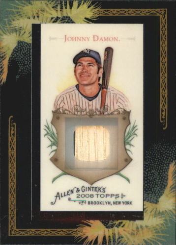 Photo of 2008 Topps Allen and Ginter Relics #JDD Johnny Damon Bat C