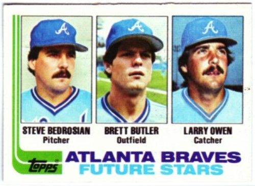 Photo of 1982 Topps #502 Steve Bedrosian RC UER/Photo actually Larry Owen/Brett Butler RC/Larry Owen