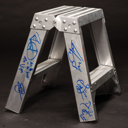 USED & SIGNED Top Rung of ladder from Money In The Bank 2013 (Signed by Multiple Superstars)