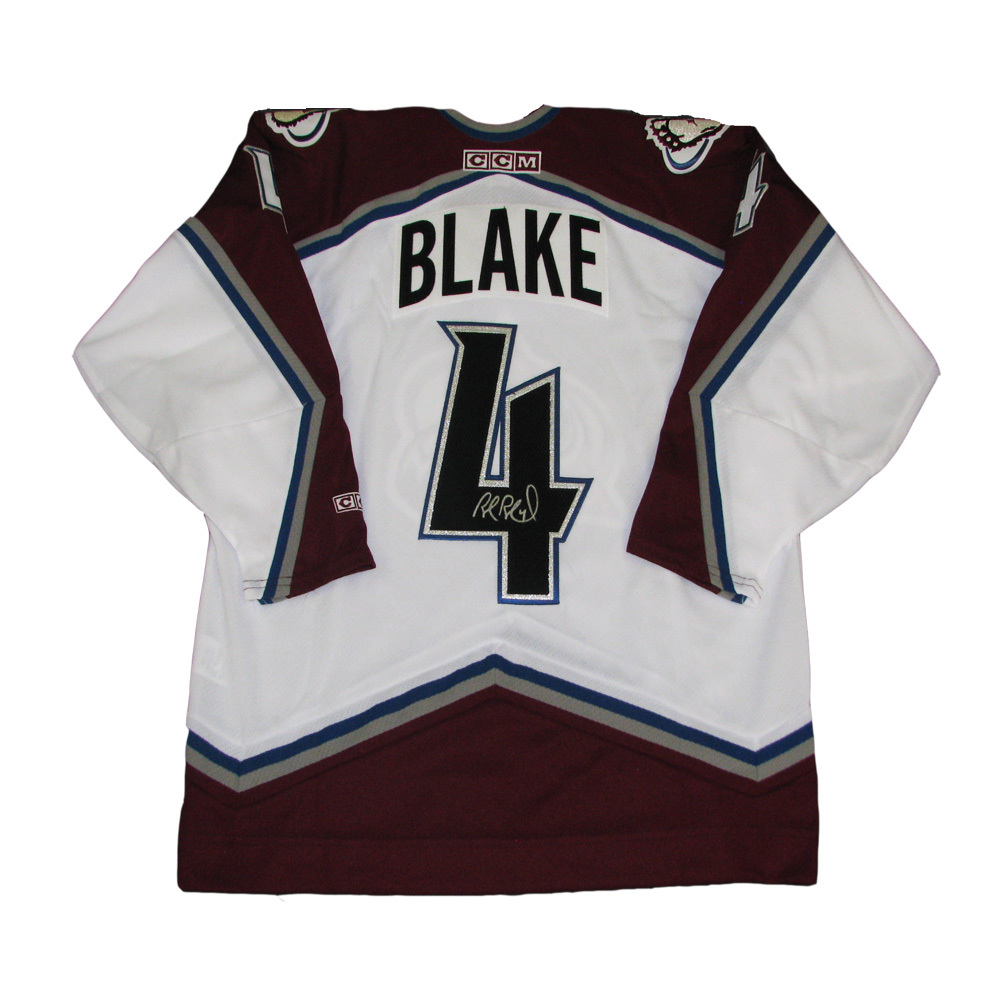 ROB BLAKE Signed Colorado Avalanche White CCM Jersey