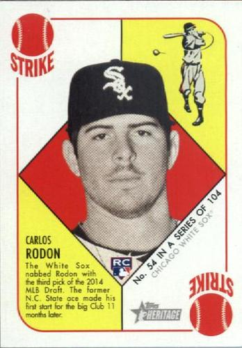 Photo of 2015 Topps Heritage '51 Collection #54 Carlos Rodon RC