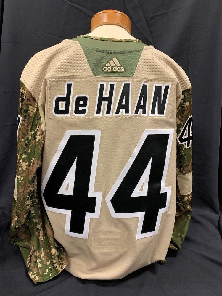 Calvin de Haan #44 Autographed, Warm Up Worn Military Appreciation Jersey