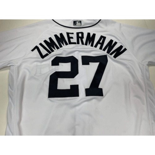 Photo of Game-Used Home Jersey: Jordan Zimmermann