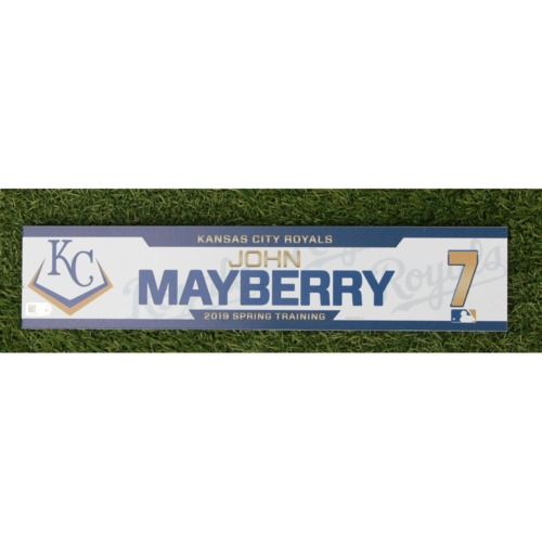 Photo of Team-Issued Spring Training Locker Tag: John Mayberry