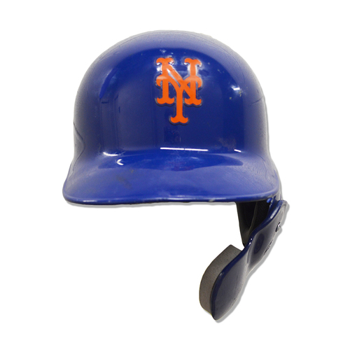 Photo of Wilson Ramos #40 - Game Used Blue Batting Helmet with Face Guard - Mets vs. Reds - 4/30/19