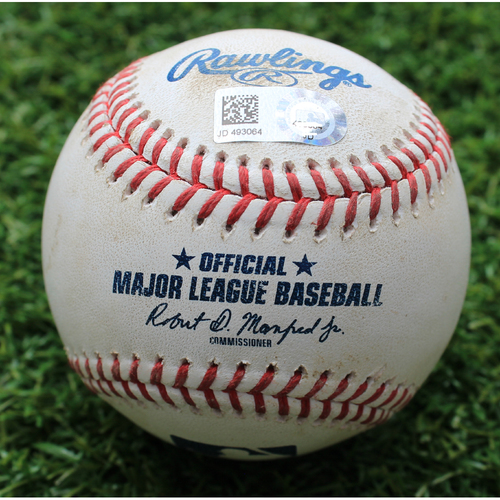 Photo of Game-Used Baseball: Austin Adams Pitched 55th Career Strikeout (DET @ KC - 6/13/19)