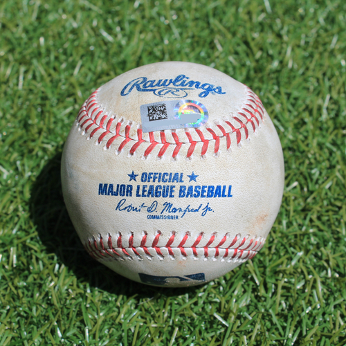 Photo of Game-Used Baseball: Jeimer Candelario 202nd Career Hit (DET @ KC - 7/14/19)