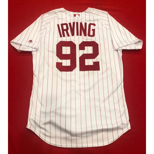 Photo of Nate Irving -- 1967 Throwback Jersey & Pants -- Game-Used for Rockies vs. Reds on July 28, 2019 -- Jersey Size: 46 / Pants Size: 36-41-20