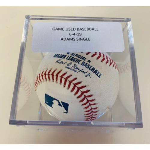Photo of Game-Used Baseball: Willy Adames Single