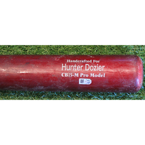 Team-Issued Bat: Hunter Dozier