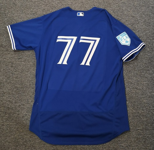 Photo of Authenticated Team Issued 2019 Spring Training Jersey - #77 John Axford. Size 50
